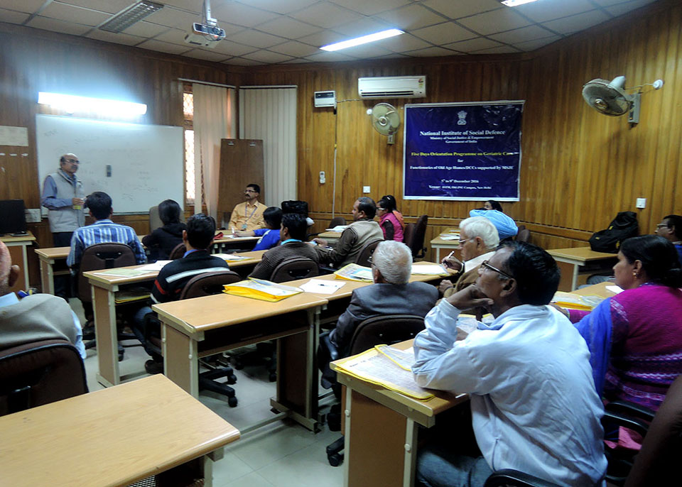 Five Days Orientation Training Programme on Geriatric Care