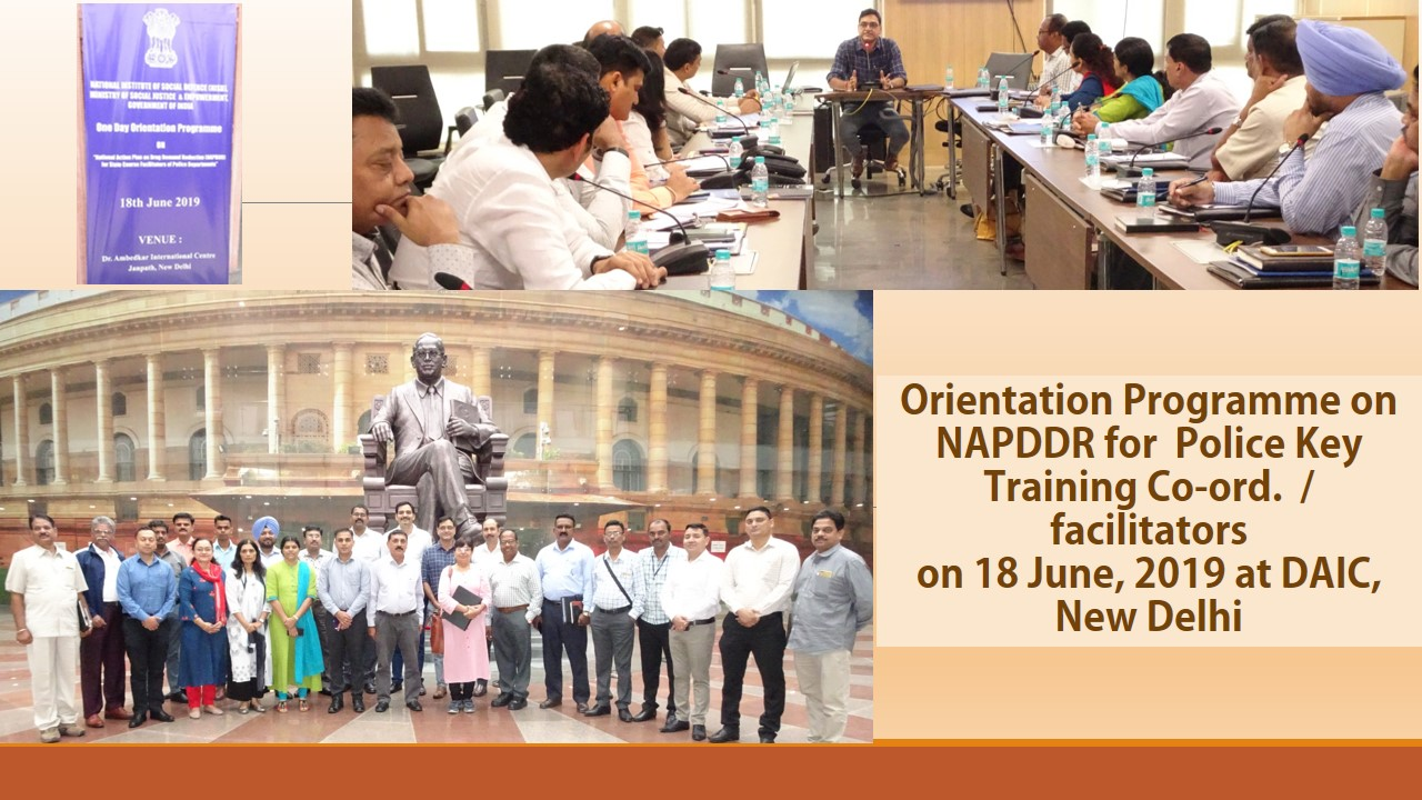 Orientation Programme on NAPDDR for Police Key Training Co-ord. on 18.06.2019