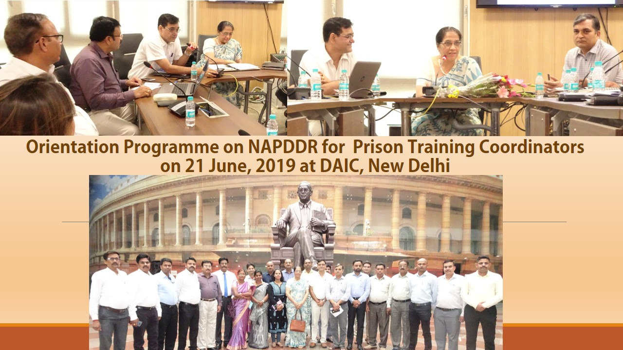 Orientation Programme on NAPDDR for Prison Training Co-ord. on 21.06.2019