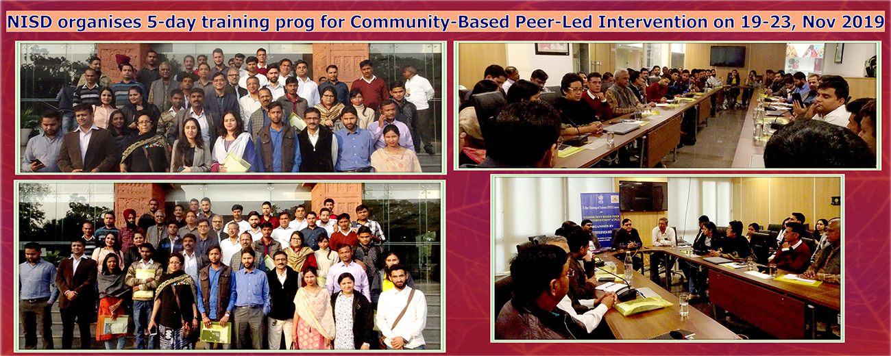 NISD organises 5-day training programme for Community-Based Peer-Led Intervention from Nov 19-23